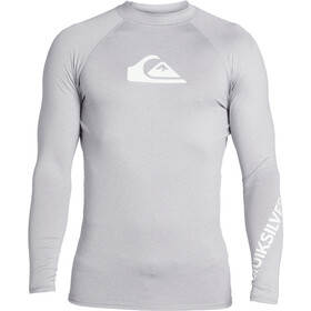 Quiksilver All Time Camiseta Manga Larga Hombre, sleet heather